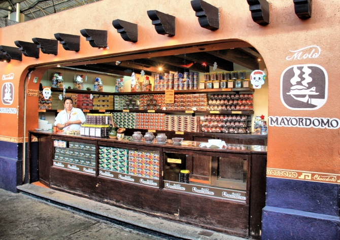 Chocolate Vendors at the Market